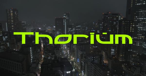 Thorium vert Fond ville nuit